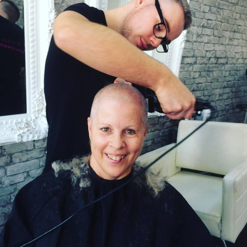 Glen shaving my head 30th September 2016