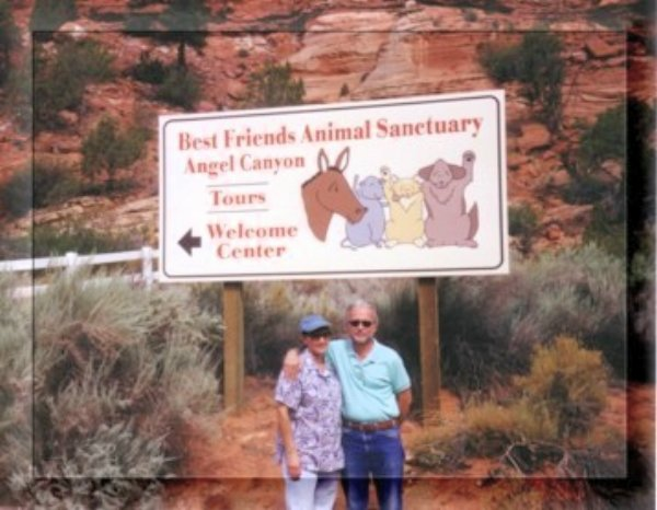 Ed and his wife Rebecca at the Best Friends Animal Sanctuary - Utah
