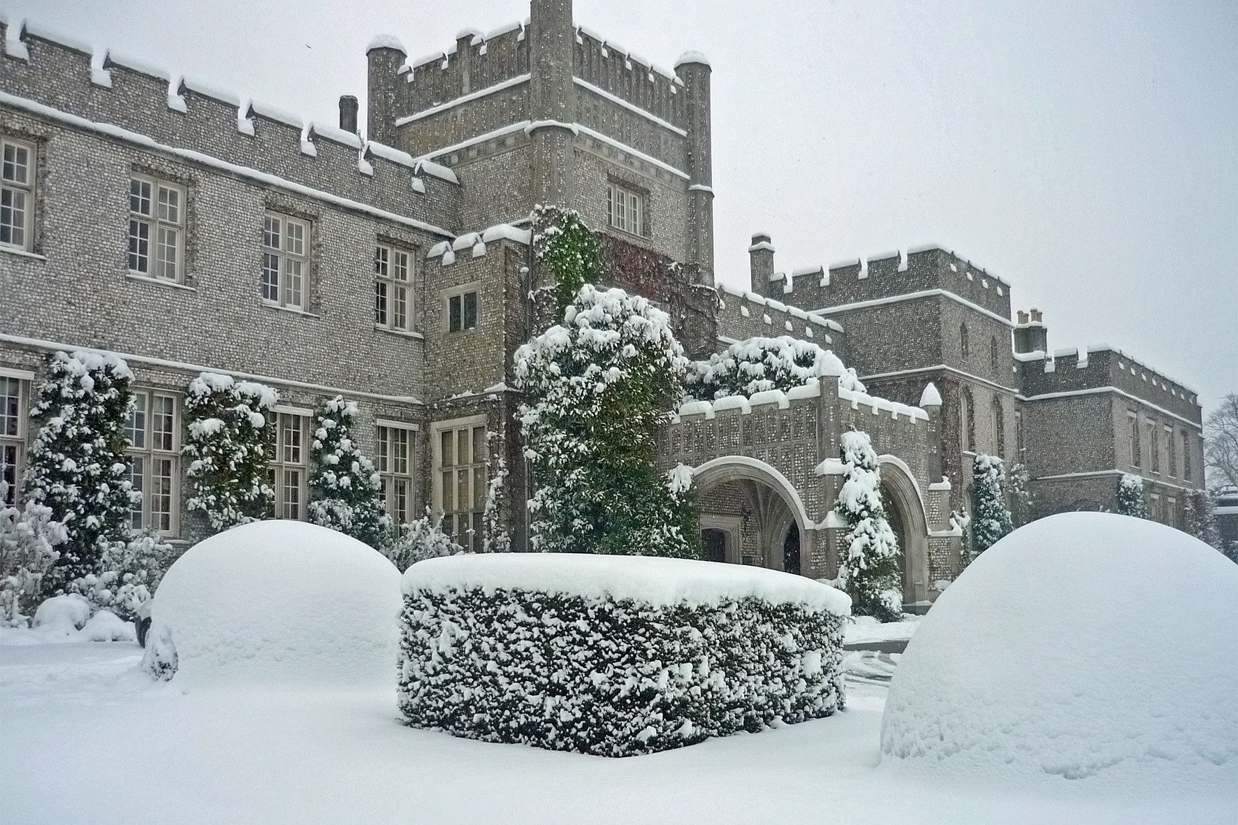 West Dean College in the winter