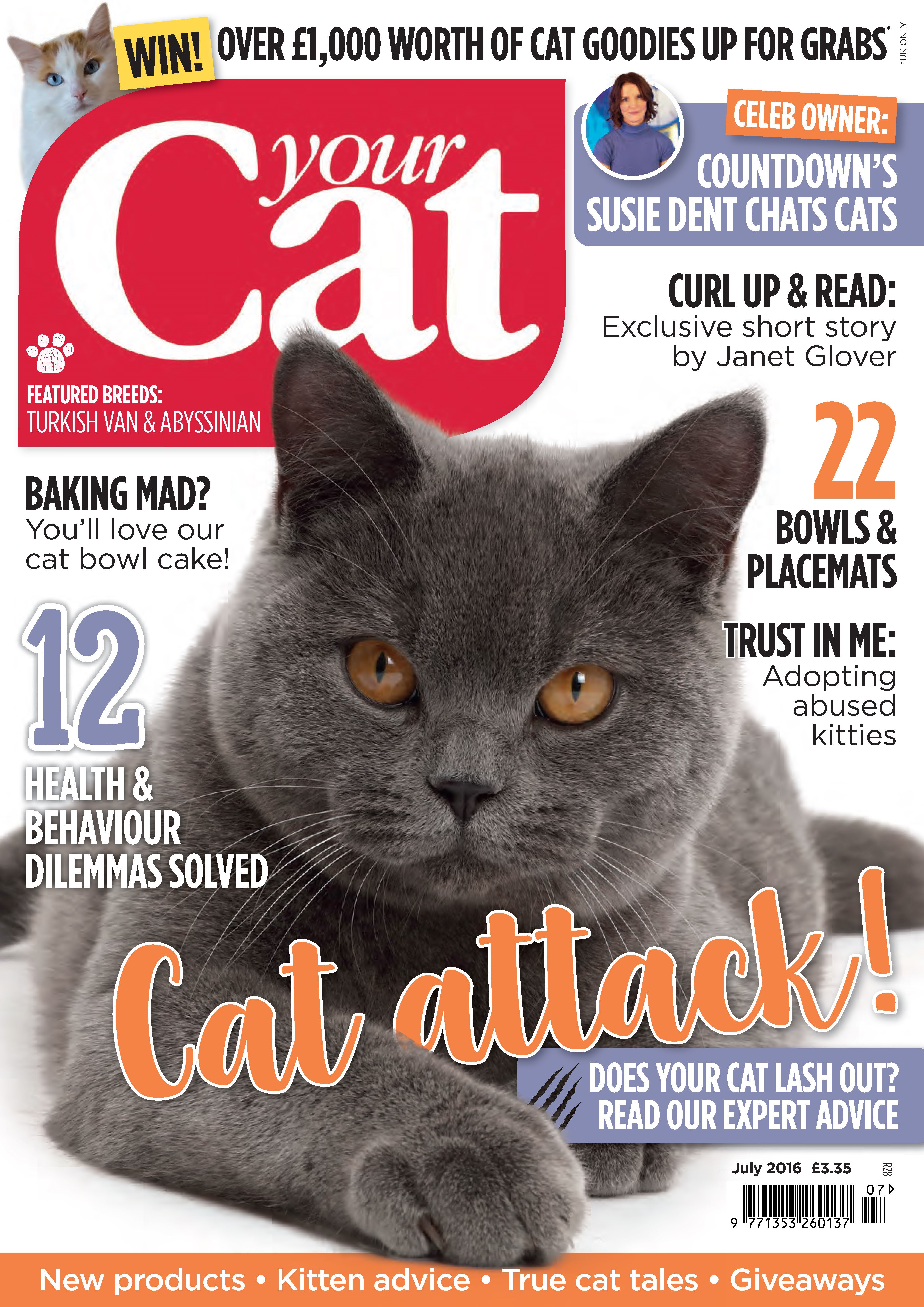 Your Cat magazine cover for July 2016
